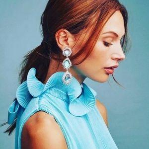 Kendra Scott Aria Gunmetal Glass Dangle Earrings